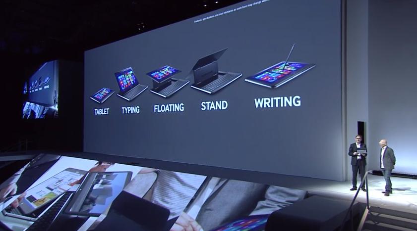 Híbrido Samsung Ativ Q possui diversas posições para uso (Foto: Reprodução)