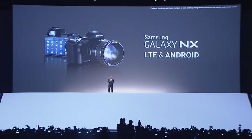 Samsung apresenta câmera com Android, a Galaxy NX (Foto: Reprodução)