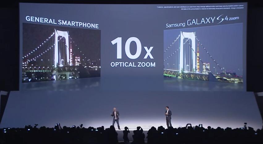 Samsung mostra a diferença da câmera do Galaxy S4 Zoom para os smartphones comuns (Foto: Reprodução)