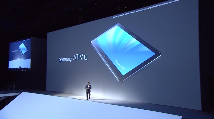 Samsung lança novo tablet ATIV Q, com Android e Windows 8 (Foto: Reprodução)