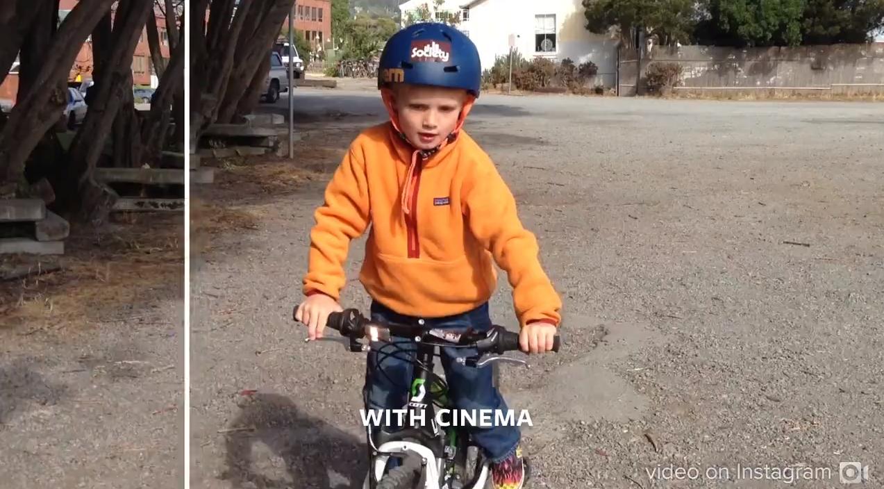 """Ferramenta de estabilização de vídeos no Instagram: """"Cinema"""" (Foto: Reprodução/Instagram)"""