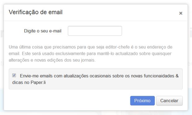Confirmação de e-mail (Foto: Reprodução/Lívia Dâmaso)