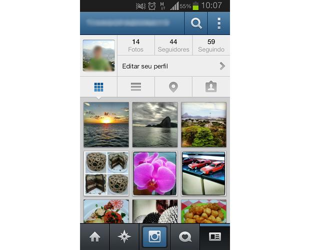 Escolha na sua galeria do Instagram, a foto que deseja excluir  (Foto: Reprodução / Thiago Bittencourt)