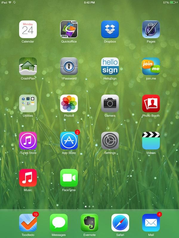 iPad agora tem também o iOS 7 Beta (Foto: Reprodução/Mac Rumors)