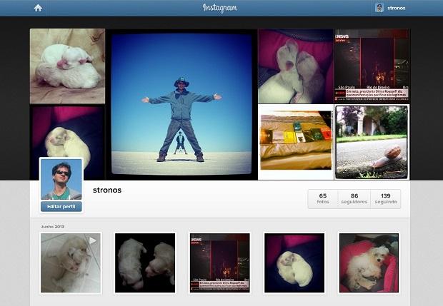 Faça o login no site do Instagram para PC Foto: Reprodução/ Daniel Ribeiro) (Foto: Reprodução/ Daniel Ribeiro)