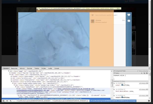 Coloque o cursor sobre o vídeo para visualizar o tag HTML de sua filmagem  (Foto: Reprodução/ Daniel Ribeiro)