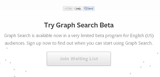 Busca social só está disponível em versão beta para usuários americanos do Facebook (Foto: Reprodução)