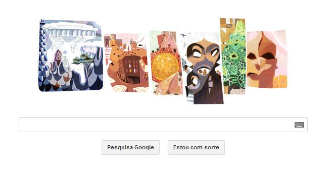 Doodle de hoje homenageia Gaudí  (Foto: Reprodução/Google)