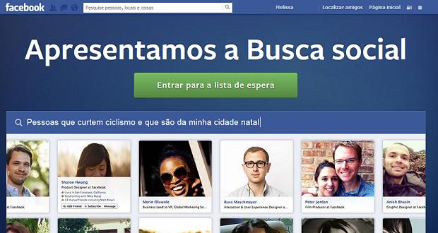 Site da Graph Search, em português, não informa quando o recurso estará disponível no idioma. (Foto: Reprodução)