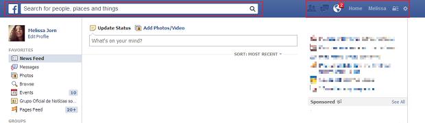Facebook ganha novo visual com a chegada da busca social (Foto: Reprodução)