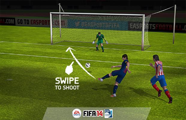 Novo sistema de controle embala versão mobile de Fifa 14 (Foto: Divulgação)
