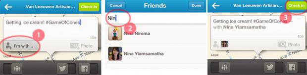 Foursquare agora permite fazer checkin dos amigos (Foto: Reprodução)