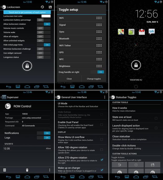 AOKP apresenta grande poder de configuração (Foto: Reprodução/Phone Arena)