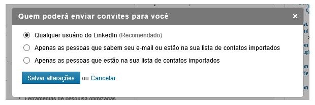 Opte por falar ou não com desconhecidos no LinkedIn (Foto: Reprodução Thiago Barros) (Foto: Opte por falar ou não com desconhecidos no LinkedIn (Foto: Reprodução Thiago Barros))