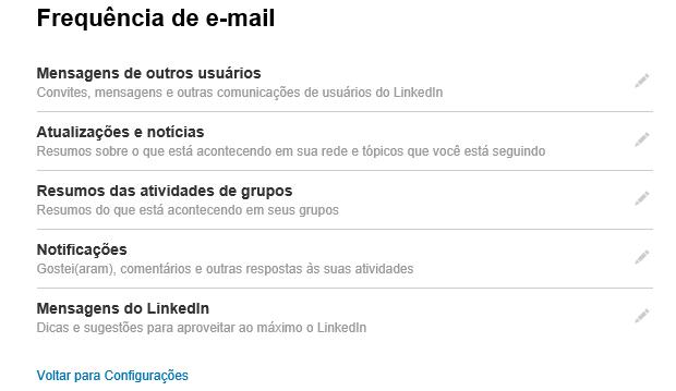 Editar frequência das interações por e-mail é bem importante (Foto: Reprodução Thiago Barros)