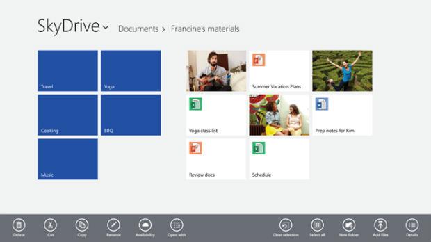 Nova busca e maior interação com os conteúdos do Skydrive no Windows 8.1 (Foto: Divulgação/Microsoft)