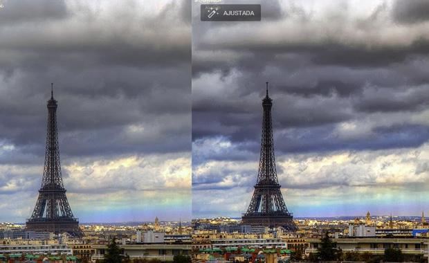 Imagem antes e depois do ajuste automático (Foto: Reprodução) (Foto: Imagem antes e depois do ajuste automático (Foto: Reprodução))