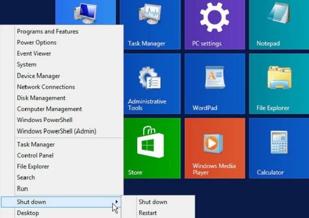 """Opção """"Desligar"""" na volta do botão &squot;Iniciar&squot; do Windows (Imagem: Reprodução / CNet)"""