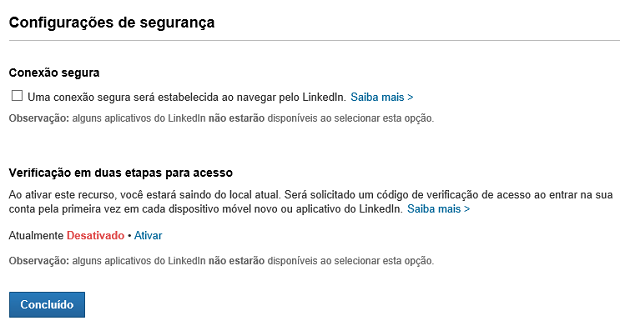 Altere configurações de segurança para sua rede social (Foto: Reprodução Thiago Barros)