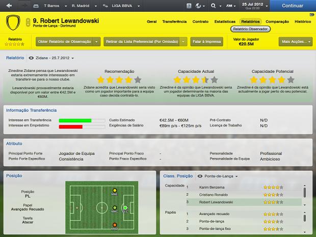 Relatórios mostram se jogador é boa contratação (Foto: Reprodução/Thiago Barros)