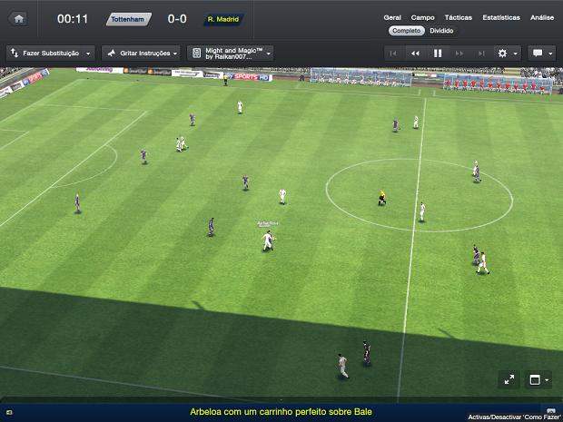 Esta é a tela de jogo do FM 2013 (Foto: Reprodução/Thiago Barros)