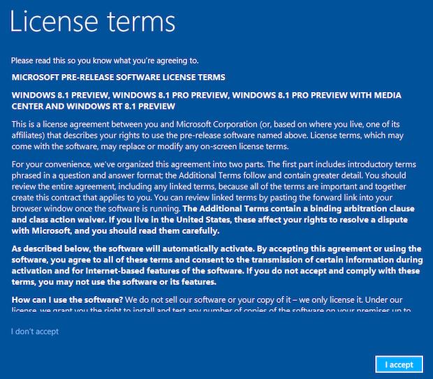 Termos do Windows 8.1 (Foto: Reprodução/Helito Bijora)