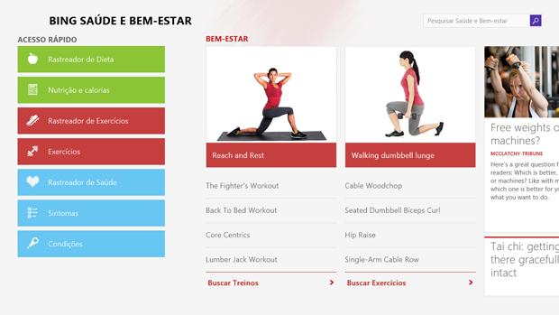 Aplicativo Bem Estar e Saúde é um dos destaques do Windows 8.1 (Foto: Elson de Souza/TechTudo)