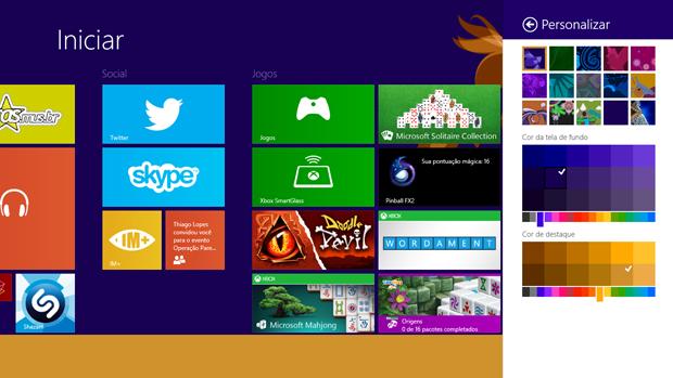 Windows 8.1 investe na personalização do sistema, principalmente na interface Metro (Foto: Elson de Souza/TechTudo)