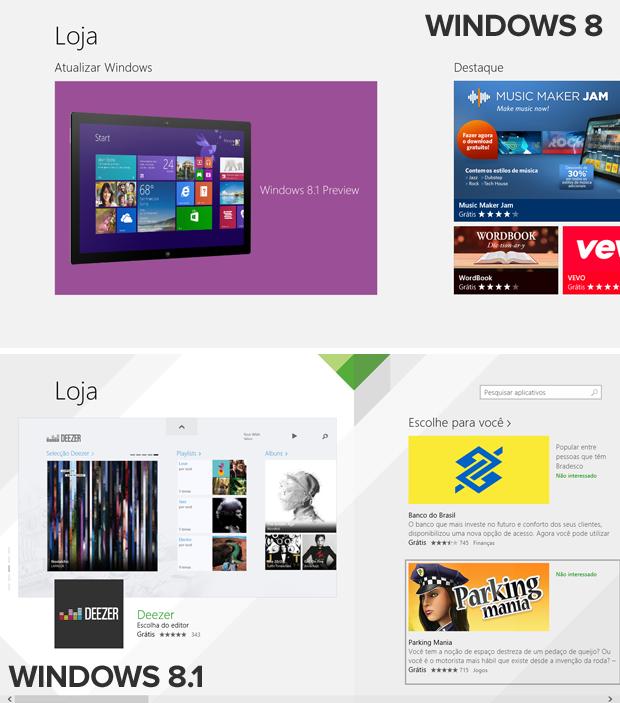 Loja de aplicativos do Windows 8.1 foi remodelada e traz design mais dinâmico (Foto: Elson de Souza/TechTudo)