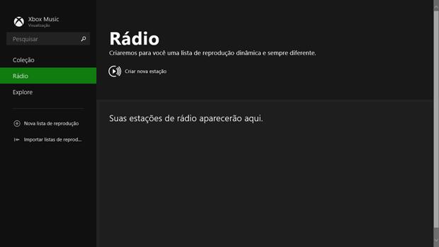 Xbox Music ganhou função Rádio no Windows 8.1 (Foto: Elson de Souza/TechTudo)