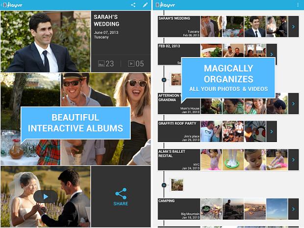 Flayvr permite organização de fotos de um jeito bem diferente (Foto: Divulgação)