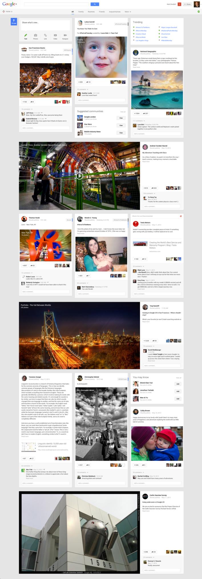 Novo layout do Google+ mostra novidades na rede do Google (Foto: Divulgação)