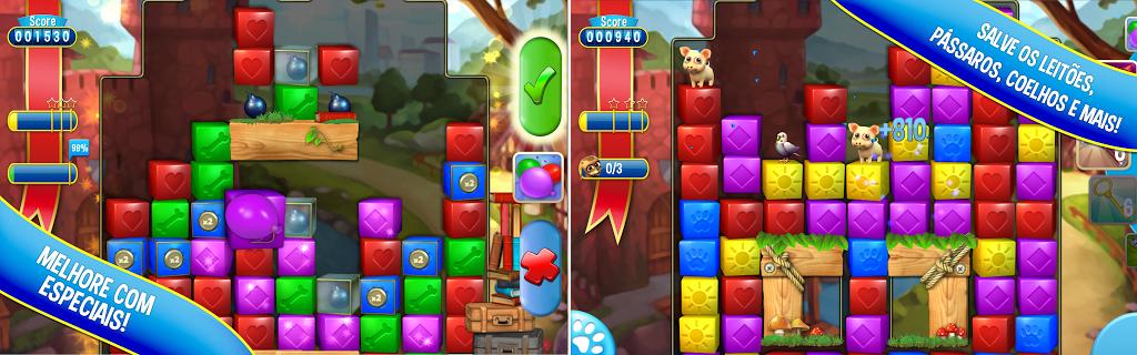 Pet Rescue Saga é um game divertido dos criados do Candy Crush (Foto: Divulgação)