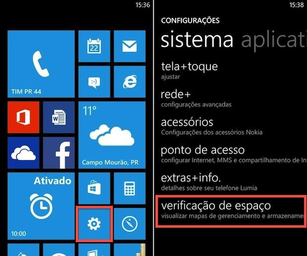 Configurações do Windows Phone 8 (Foto: Reprodução/Helito Bijora)