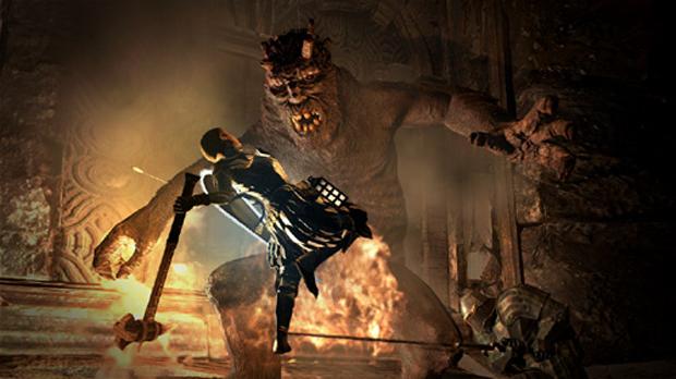 Fogo ajuda a matar Ogros no game (Foto: Divulgação)