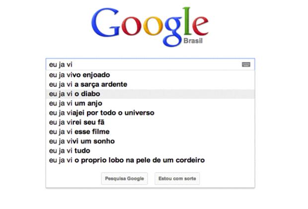 Sugestão dada pelo Google (Foto: Reprodução/Gente que Busca) (Foto: Sugestão dada pelo Google (Foto: Reprodução/Gente que Busca))