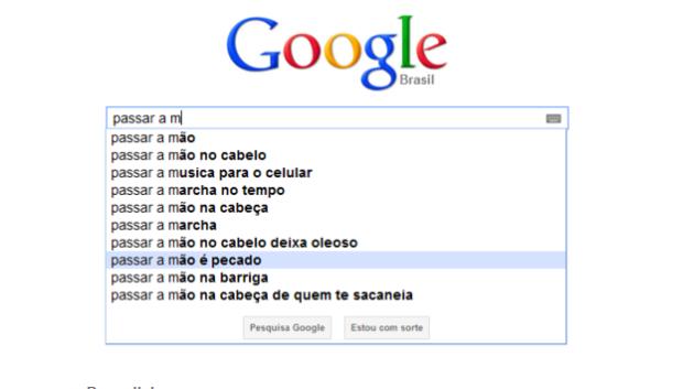 Sugestões engraçadas dadas pelo autocompletar do Google (Foto: Reprodução/Gente que Busca) (Foto: Sugestões engraçadas dadas pelo autocompletar do Google (Foto: Reprodução/Gente que Busca))