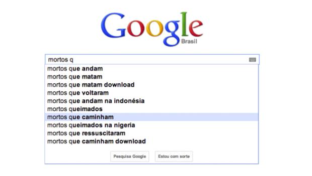 Opções bizzaras oferecidas pela ferramenta autocompletar do sistema de busca Google (Foto: Reprodução/Gente que Busca) (Foto: Opções bizzaras oferecidas pela ferramenta autocompletar do sistema de busca Google (Foto: Reprodução/Gente que Busca))