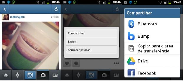 Saiba como compartilhar fotos do Instagram em outras redes sociais mesmo após publicá-las, via Android (Foto: Reprodução)