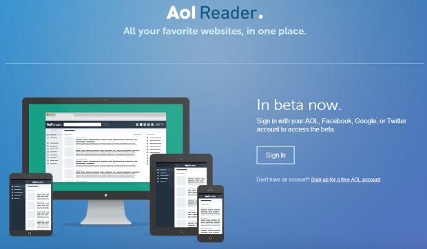AOL lançou seu feed de notícias; 'AOL Reader' (Foto: Divulgação)