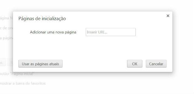 Insira as páginas para abrir automaticamente (Foto: Reprodução/Nathália Machado)