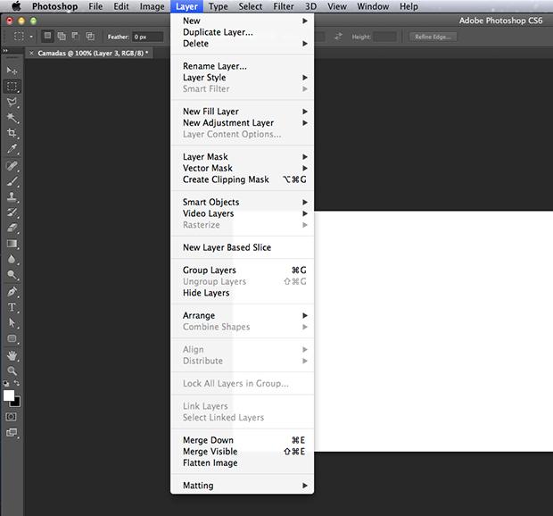 Aprenda a unir camadas no photoshop de forma simples dicas e caminho dentro do adobe photoshop para acessar as opes de unio de camada foto ccuart Choice Image