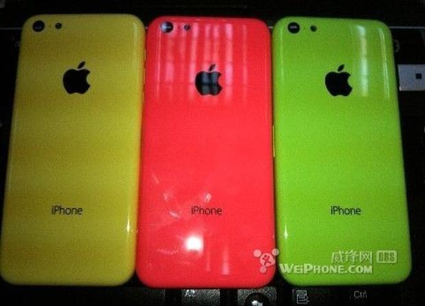 Vazam na internet imagem do suposto iPhone de baixo custo nas cores amarelo, vermelho e verde (Foto: Reprodução/Weiphone)