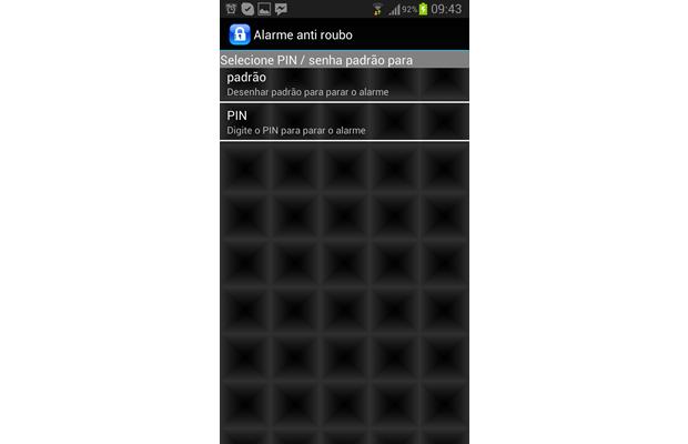 Escolha a opção para desenhar um padrão sobre a tela ou digitar um código PIN de quatro dígitos (Foto: Reprodução/ Daniel Ribeiro)