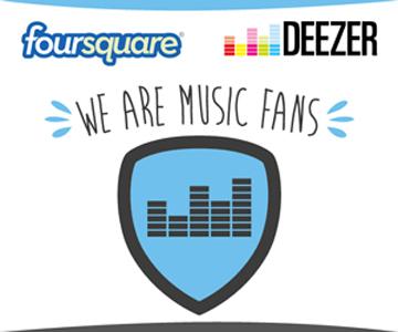 Foursquare e Deezer se unem para atrair fãs de música (Foto: Divulgação)