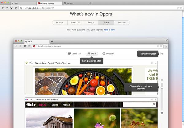 O novo Opera 15 (Foto: Reprodução/Opera 15)
