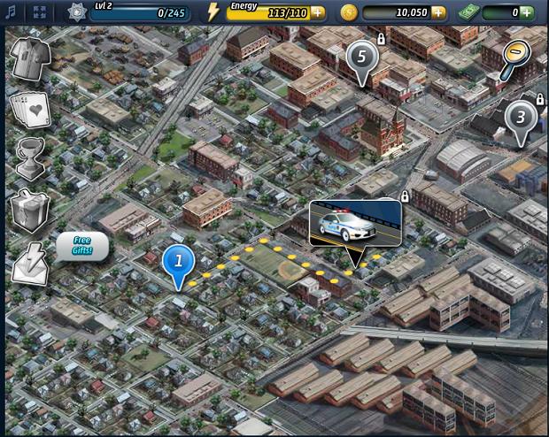 Mapa serve para visualizar as missões (Foto: Reprodução/Thiago Barros)