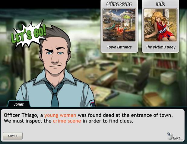 Tutorial já mostra a vítima e a cena do crime (Foto: Reprodução/Thiago Barros)