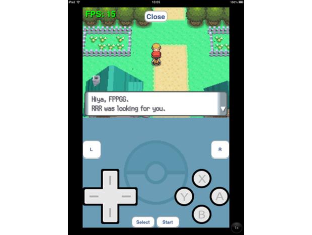 iPad 2 com iOS 6.1.3 roda jogo Pokémon no emulado de Game Boy Advance (Foto: Reprodução/Dário Coutinho)