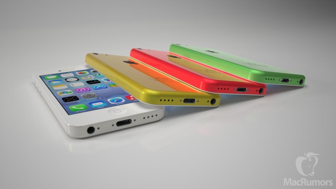 O iPhone de plástico terá mais quatro opções de cores, além do preto e branco (Foto:Reprodução/Mac Rumors)